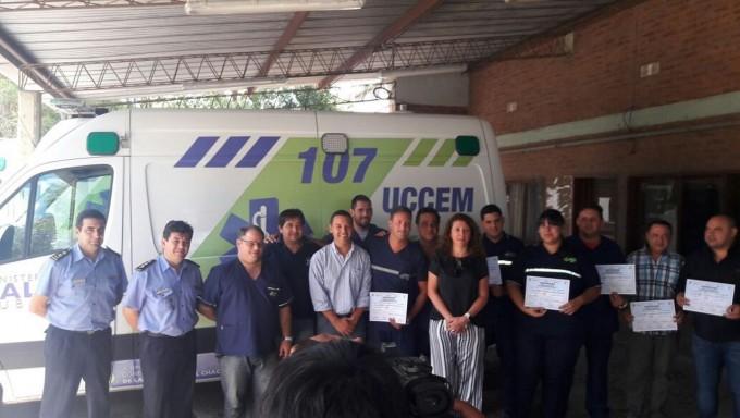 CHOFERES DE SALUD PUBLICA RECIBIERON CERTIFICADOS POR CURSO DE PERFECCIONAMIENTO