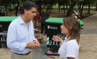 Capitanich presentó las Islas Ecológicas que servirán para contener residuos para su posterior reciclado