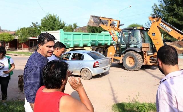 Villa Chica: Continúan los operativos integrales de limpieza para reacondicionar los barrios tras la emergencia hídrica