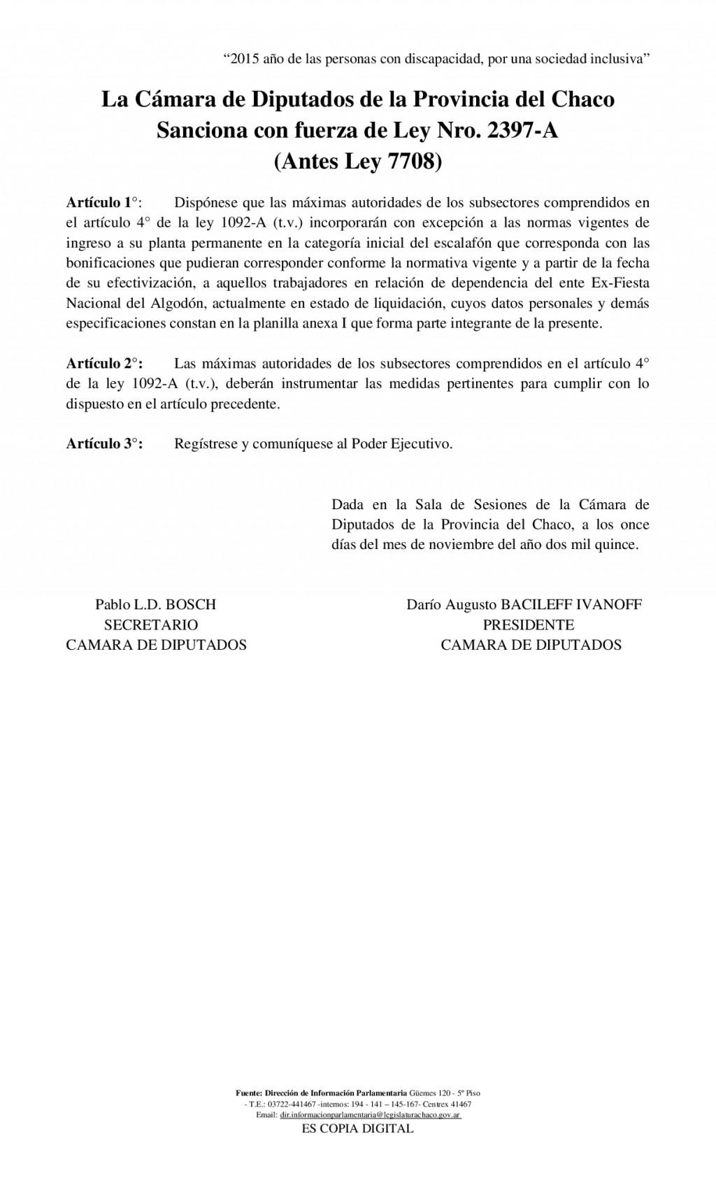 GOBIERNO INFORMA SOBRE PASE A PLANTA DE LOS EMPLEADOS DE LA EX FIESTA NACIONAL DEL ALGODÓN