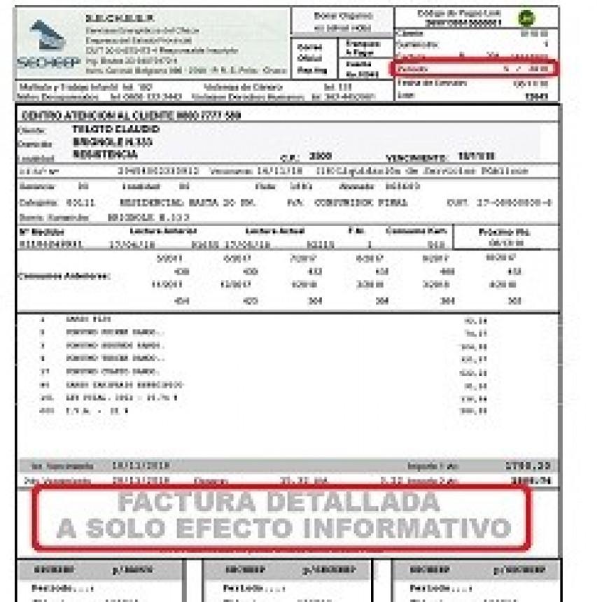 SECHEEP: LAS FACTURAS DE LOS PERIODOS 5, 6, 7 Y 8 QUE LLEGAN A LOS DOMICILIOS SON SÓLO