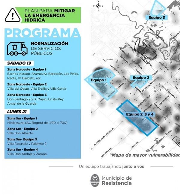 Normalización de servicios: el municipio arranca  el programa con 100 operarios y 30 máquinas