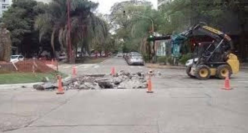 El Municipio solicitó la intervención de Sameep para resolver el hundimiento de la calzada en Dodero y Los Hacheros