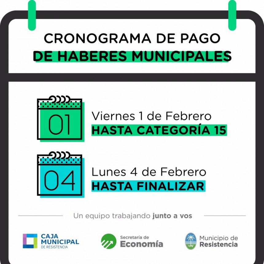 El municipio abona los salarios del mes de enero