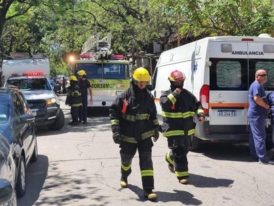 Se incendió un departamento en una zona céntrica de Resistencia