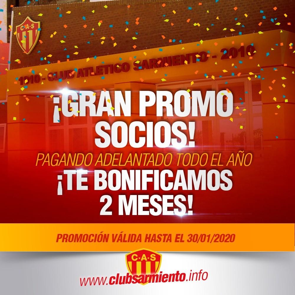 El Club Atlético Sarmiento lanzó una promoción para sus socios