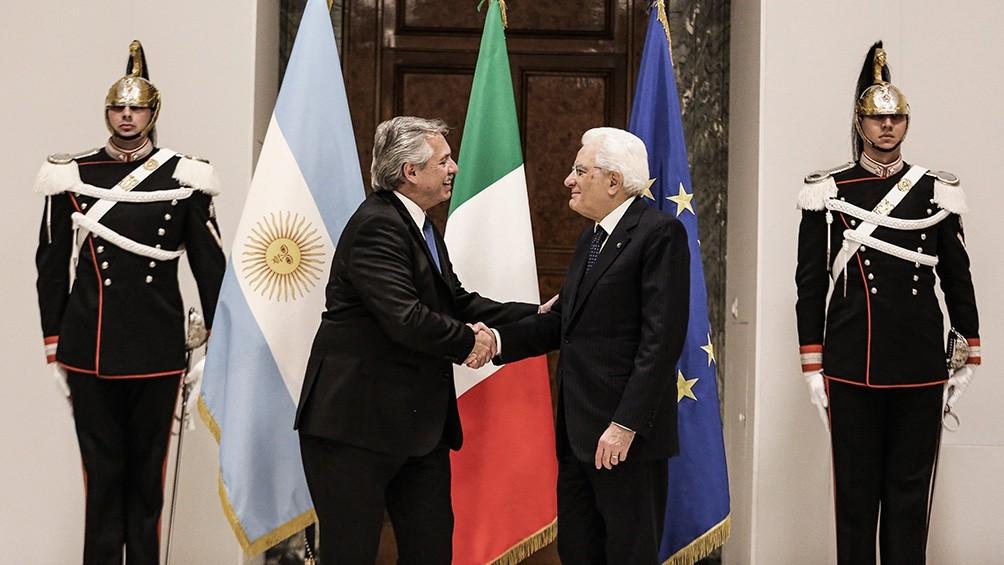 Alberto Fernández se reunió con el primer ministro y con el presidente de Italia