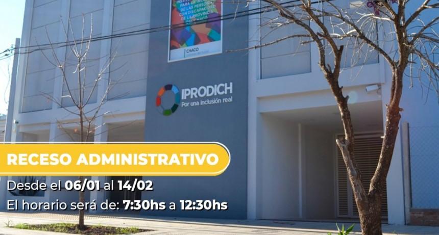 El IPRODICH informó el nuevo horario para la atención al público durante el receso de verano