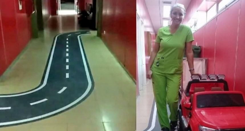 En un Hospital de Ushuaia los niños entran al quirófano en un autito para bajar la tensión