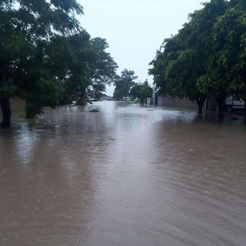 Villa Ángela es una de las localidades más afectadas por la intensa lluvia registrada