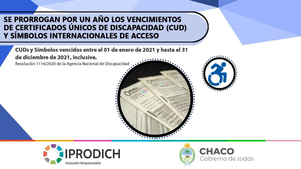 IPRODICH recuerda que se prorrogan por un año los vencimientos de CUDs y símbolos internacionales de acceso