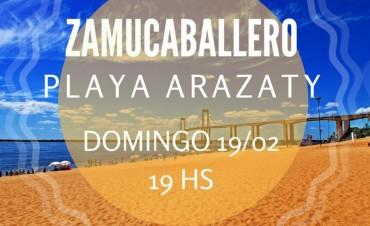 Zamu Caballero estará este domingo en Costanera Sur