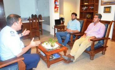 Capitanich se reunió con el flamante jefe del Grupo 4 de la Fuerza Aérea