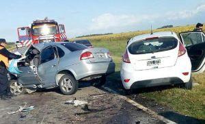 Choque frontal cerca de Tres Arroyos: seis muertos, tres de ellos menores
