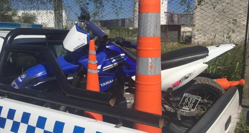 CAMINERA LOGRA EL SECUESTRO DE DOS MOTOS ADULTERADAS EN CONTROLE