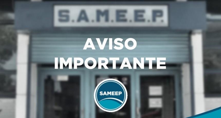 SAMEEP vuelve a su horario de atención normal