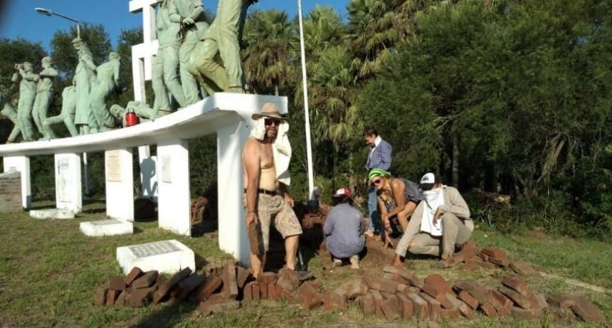 El Gobierno avanza en la restauración del Monumento a la Masacre de Margarita Belén