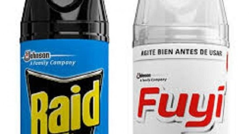 """ANMAT retiró insecticidas contra mosquitos marcas """"Fuyi"""" y """"Raid"""" de las góndolas"""