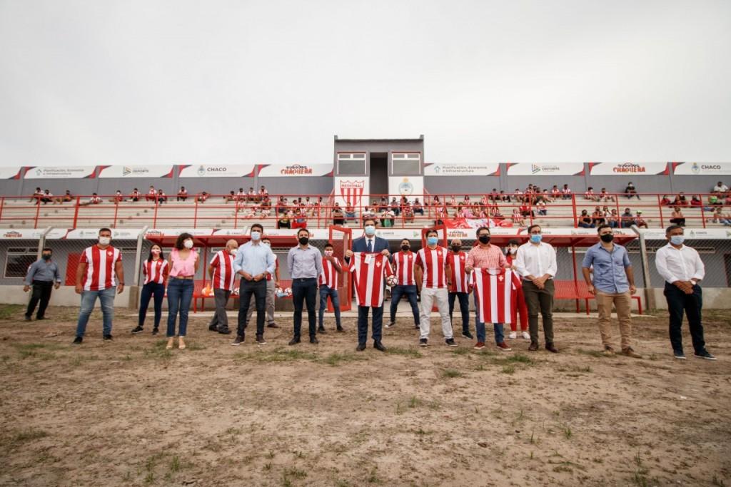 El Gobierno inauguró obras históricas en el club regional de Resistencia