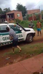 Dañaron dos patrullas de GN y un joven terminó herido y detenido