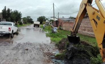 Luego de las lluvias, el municipio realizó trabajos en diversos barrios de Resistencia
