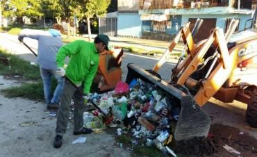 El municipio realiza operativos especiales  de limpieza y recolección en diferentes barrios