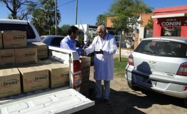 EL GOBIERNO CONCRETÓ LA DONACIÓN DE 400 KILOS DE LECHE PARA LA FUNDACIÓN CONIN