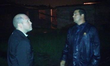 CHAPO RECORRIO DISTINTOS BARRIOS ANTE LAS INTENSAS LLUVIAS