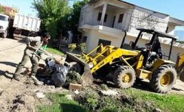 El municipio desplegó tareas de limpieza integral en villa Federal