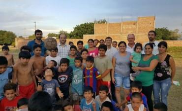 Se puso en funcionamiento la Escuela de Fútbol en Villa Elba