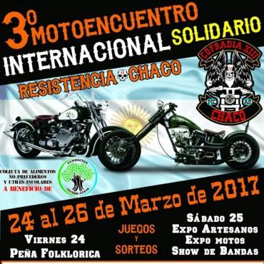 Resistencia, sede de un Moto-Encuentro Solidario que nucleará a mil motoqueros de diferentes países