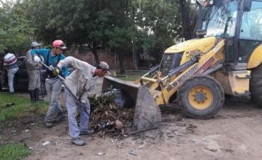 El Municipio multiplicó operativos de limpieza en diferentes puntos de la ciudad