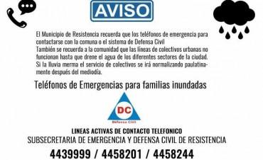 Alerta meteorológica: El Municipio activó los mecanismos de emergencia para contener eventuales contingencias