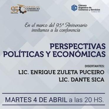 Enrique Zuleta Puceiro y Dante Sica disertarán en el 95 aniversario de la Cámara de Comercio