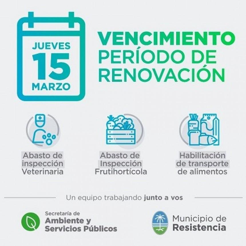 Vence el período de renovación de habilitaciones para inspección veterinaria y de transporte alimenticio