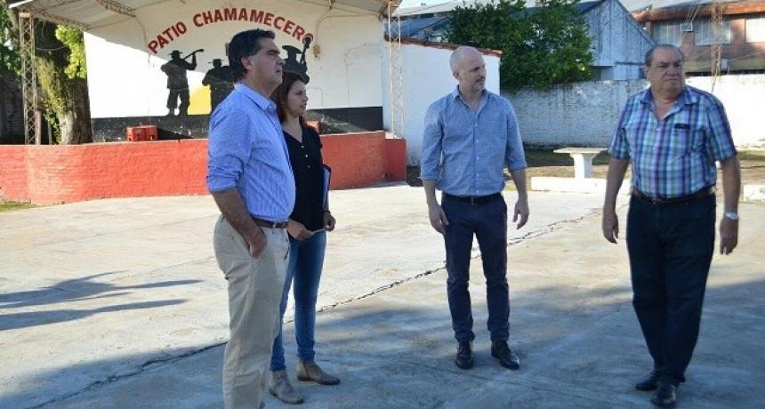 Capitanich y directivos del Prado Asturiano: Proyectan abrir la calle y dar continuidad a Marcelo T. de Alvear