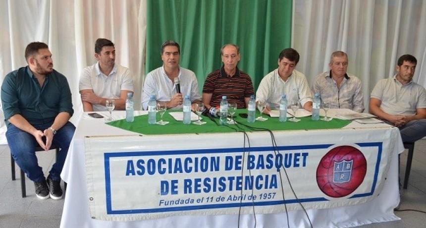 """El intendente presentó el Torneo de Básquetbol """"Copa Municipalidad de Resistencia"""""""