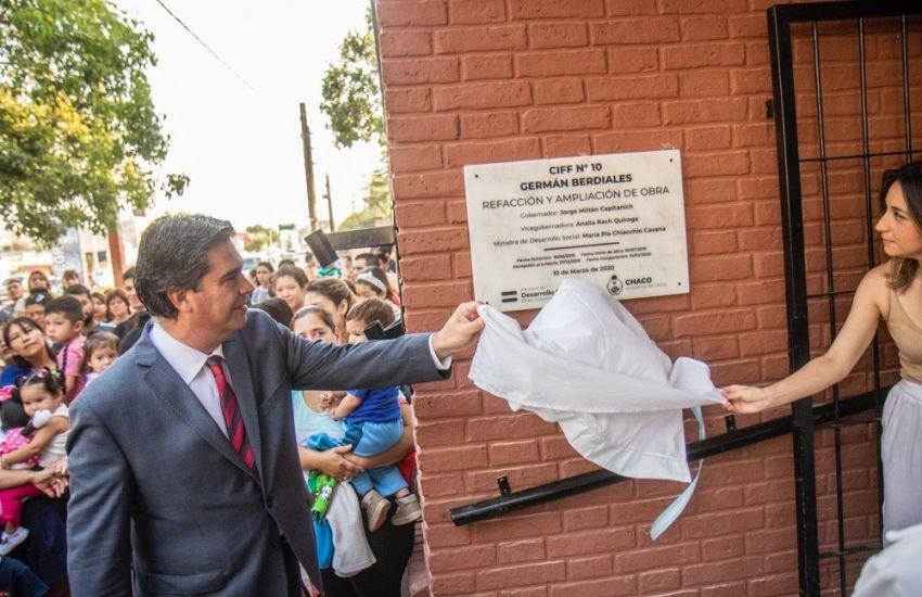 Capitanich inauguró refacciones en el CIF Nº10
