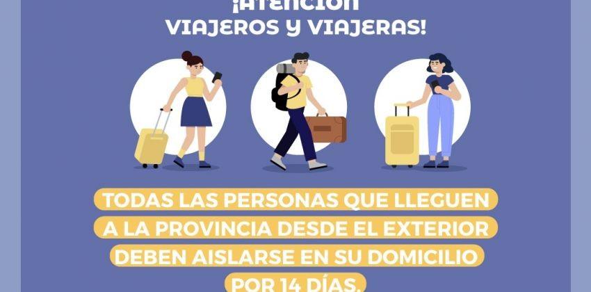 Salud solicita a los viajeros que lleguen del exterior que cumplan con el aislamiento social