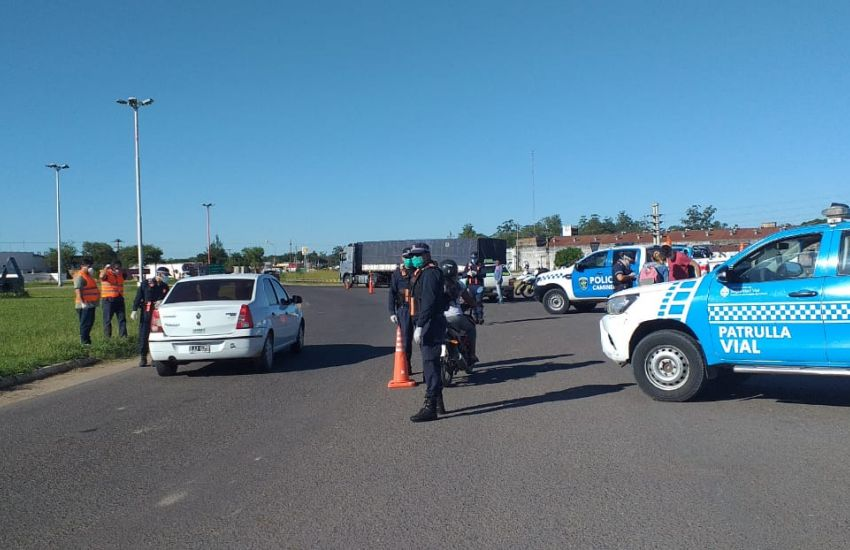 Cuarentena total: Operativos de control vehicular en la Provincia