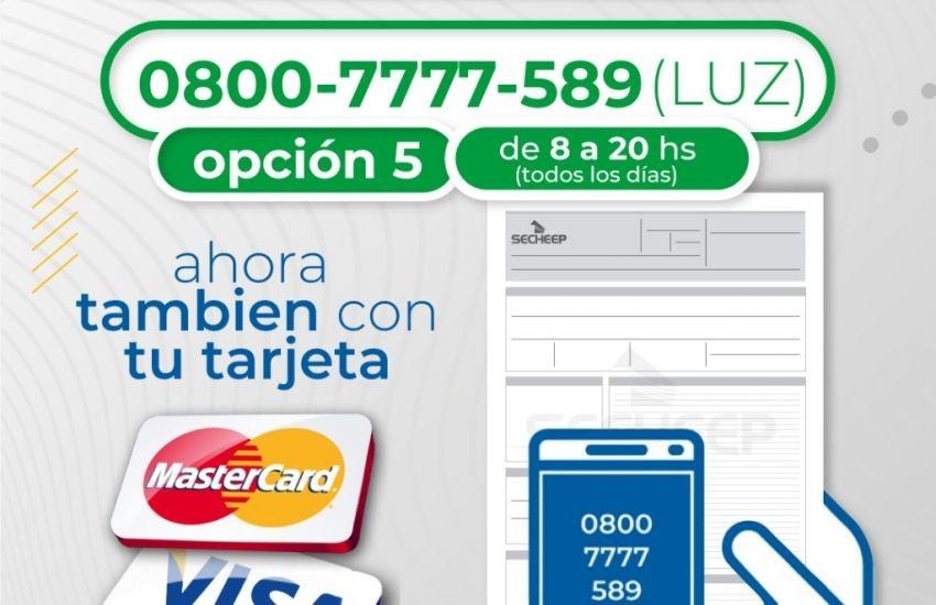 SECHEEP sumó las tarjetas Mastercard y VISA para el pago telefónico de las facturas