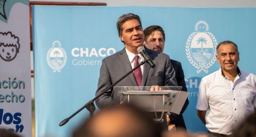 Jorge Capitanich y Nicolás Trotta inauguraron infraestructura escolar en una Comunidad Qom
