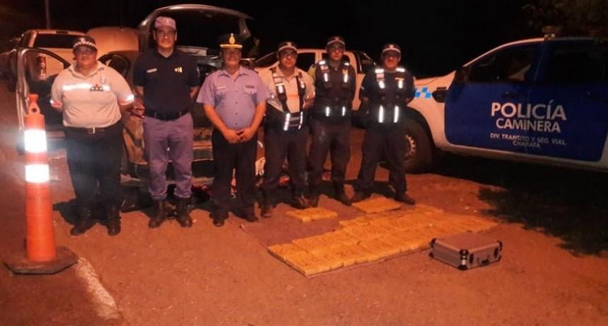 La Policía Caminera secuestró 52 kilos de marihuana en un control de tránsito entre Gancedo y Roversi