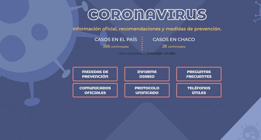 Coronavirus: chaco cuenta con canales de comunicación oficial, seguros y confiables