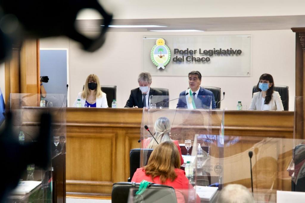 Capitanich inauguró las sesiones legislativas 2021: