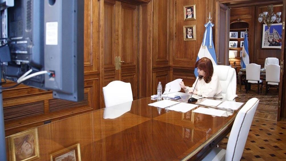 Cristina aludió a un sistema
