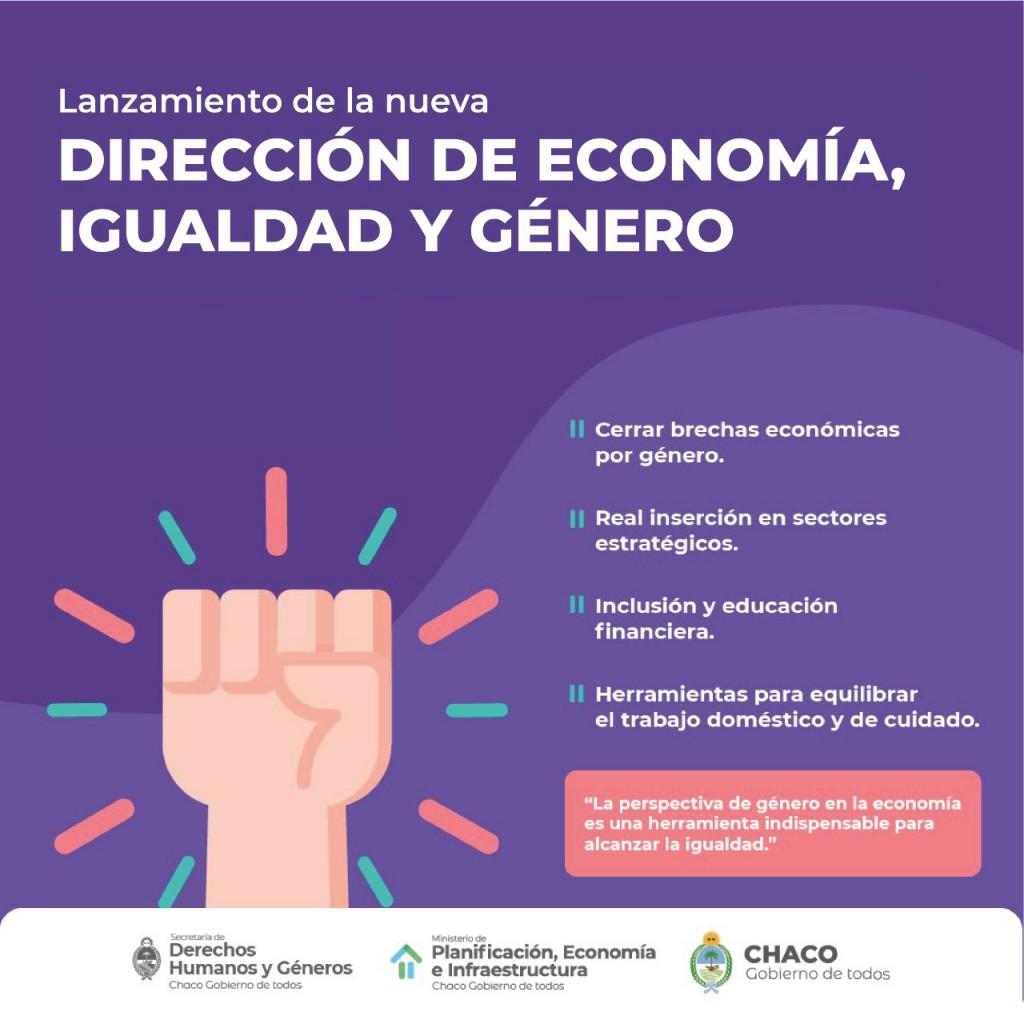 Chaco lanzará este sábado la Dirección de Economía, Igualdad y Género