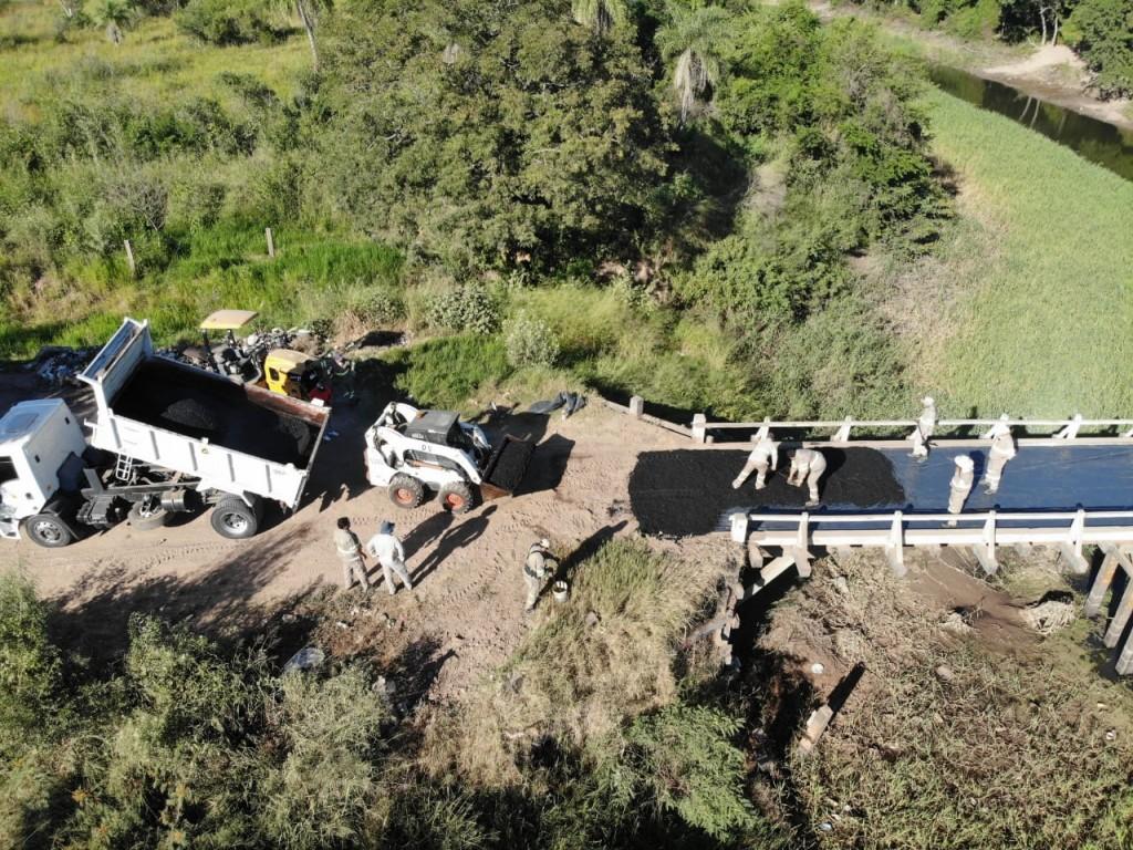 Vialidad provincial reparó el puente Bergagno de Fontana