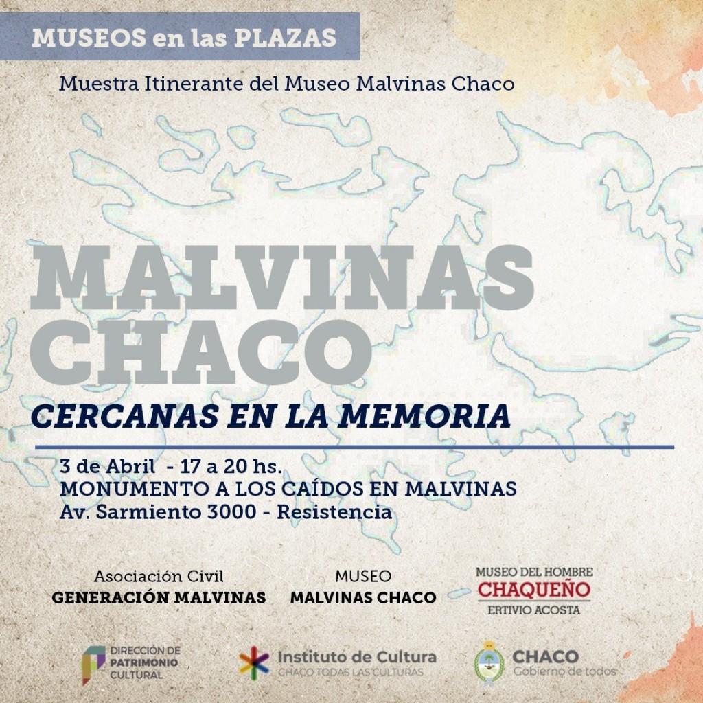 Invitan a la muestra Malvinas Chaco, Cercanas en la Memoria