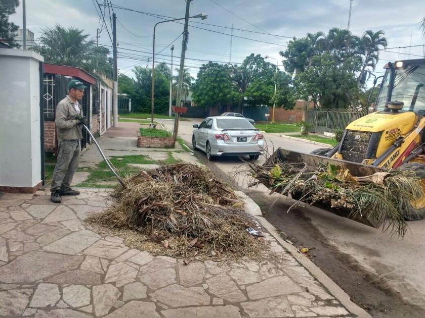 El Municipio repitió operativos de limpieza y de erradicación de minibasurales en diferentes zonas de la ciudad